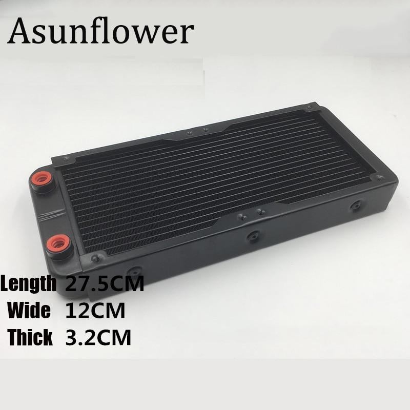 Asunflower Water Cooling Radiator 360mm/240/120 Screw Thread Computer Liquid For PC Computer Laptop Radiator CPU Heat Sink Drops