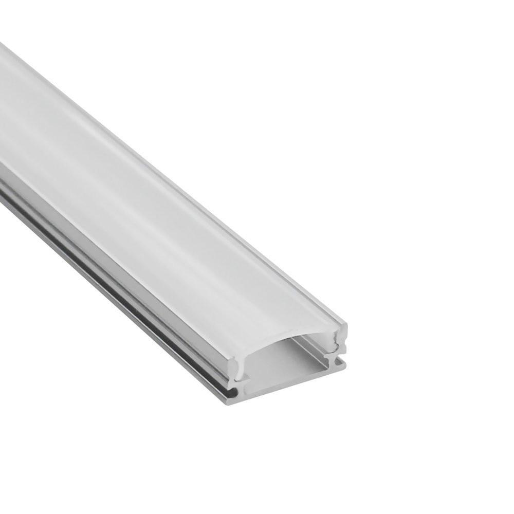 10pcs 1m led strip aluminum profile for 5050 5630 rigid bar light housing channel with cover end cap clips