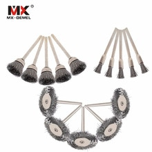 MX-DEMEL 15Pcs Steel Wire Wheel Dremel Wire Brush Burr Abrasive Head Deburring for Drill Tools Wheels Dremel Tools Accessories