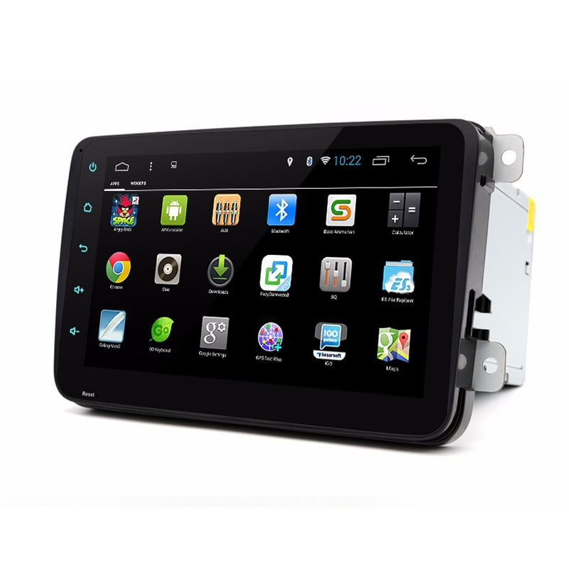 Dual Core 1024*600 8 pulgadas Deckless touch 2 Din Android 8,1 VW GPS para coche Navi GOLF 6 Polo Magotan Bora JETTA PASSAT Tiguan Fabia