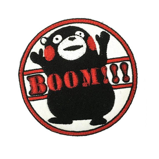 Japón Kumamon bordado parche insignia lindo oso Animal colección mochila bolsas brazo apliques parches colección regalo nuevo
