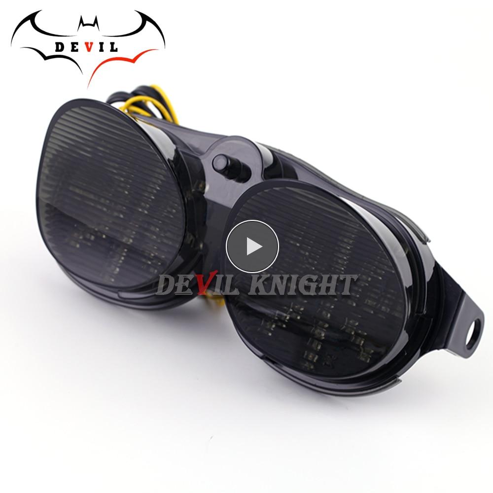 دراجة نارية ضوء لياماها YZF R6 YZF-R6 00 01 02 XJR 1300 تعديل LED الذيل ضوء دراجة نارية الفرامل ضوء مع الصمام بدوره إشارة