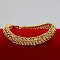 bone bracelet chain yellow gold filled fashion womens mens bracelet gift