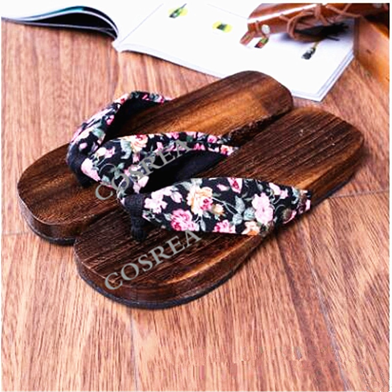 Sandalias de madera del Anime de la princesa Lolita, nuevos zuecos de estilo Retro japonés a la moda, chanclas de madera, zapatillas para mujer