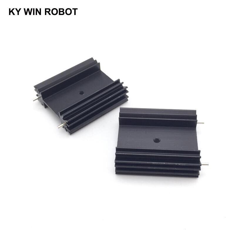 Darmowa wysyłka 2 sztuk/partia TO-247 radiator/radiator dla Audio 38*34*12MM blok chłodzenia radiator/tranzystor radiator blok