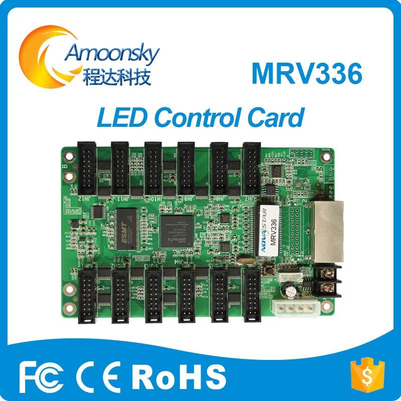 Tarjeta de control Novastar MRV336 tarjeta de recepción a todo Color LED pantalla de vídeo compatible con pantalla de matriz led interior de píxel pequeño
