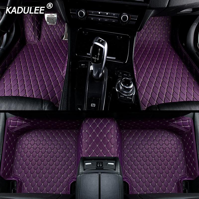 KADULEE personalizada alfombrilla de pies para suelo de coche para bmw f10 x5 e70 e53 x4 f11 x3 e83 x1 f48 e90 x6 e71 f34 e70 e30 impermeable Auto Accesorios