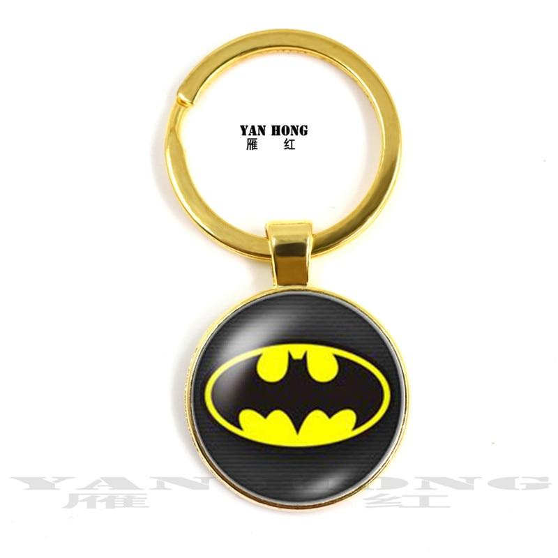 2019 yanhong moda superman batman spider-man 25 mm foto redonda porta-chaves de vidro, feito à mão
