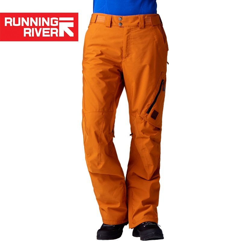 RUNNING RIVER Brand Winter Men Ski Pants Size S - XL Waterproof Windproof Warm Snow Man Outdoor Sports Pants #O7476N