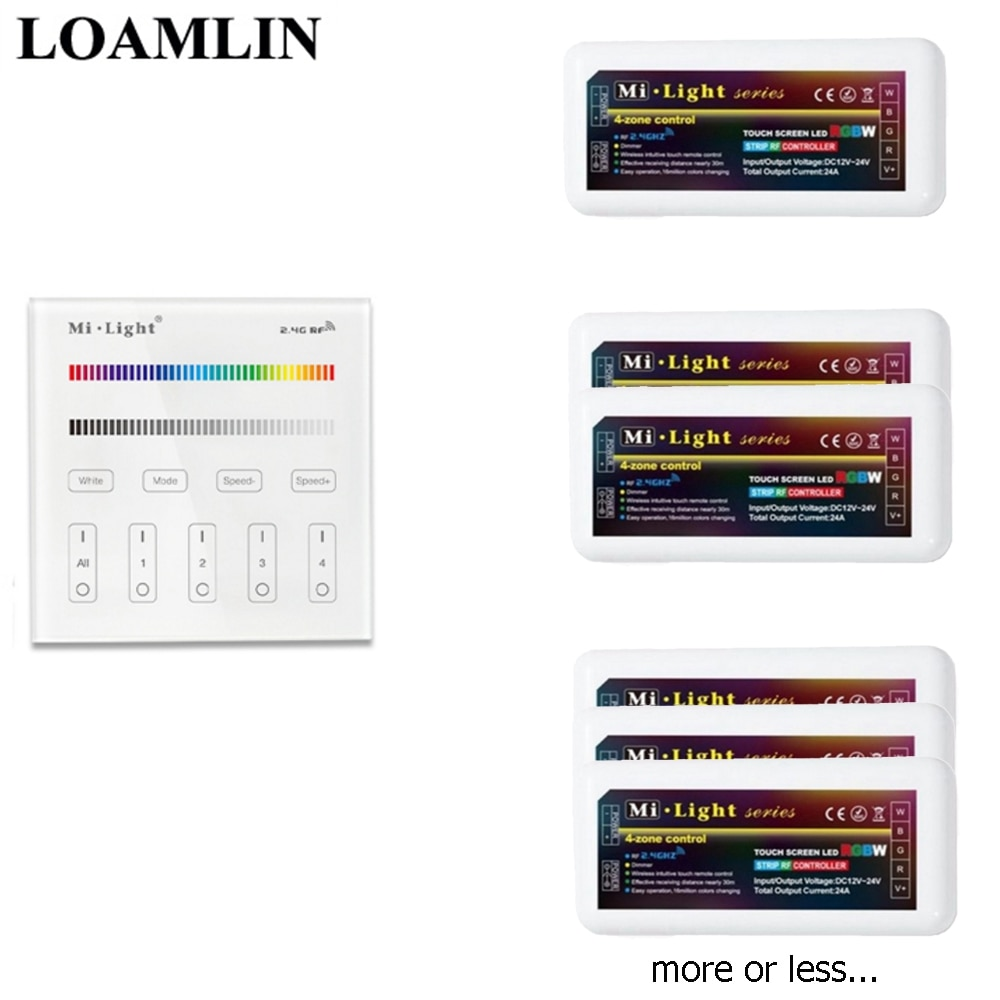 /RGB/RGBW controlador de tira Led Mi luz B3/T3 Panel táctil 2,4G Wifi Ibox Control RGB/regulador RGBW para RGB/RGBW Led Luz