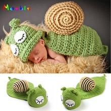 Sleepy Schnecke Baby Unisex Foto Requisiten Junge & Mädchen Häkeln Hüte Cape Set Infant Baby Weihnachten Kostüm Häkeln BABY Hüte MZS-14053