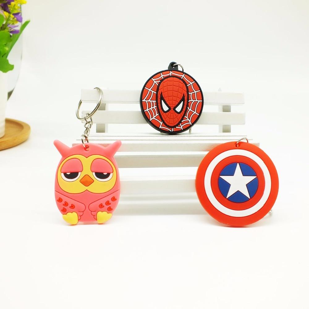 Amine Christmas Anime Cartoon Keychain Children Bag Key Chains Phone Straps Marvel Owl  Pendants Charms Model Keyring