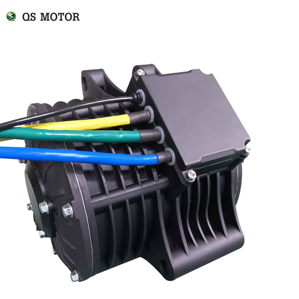QSmotor 138 72V 100KPH 3kw Mid drive motor 3000w power train kits with motor controller sprocket type enlarge