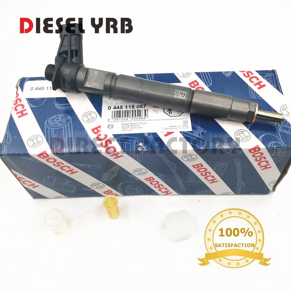 Inyector de combustible piezoeléctrico diésel 0445115067 genuino y nuevo para 0445115049, 15062058F, 68042029AA
