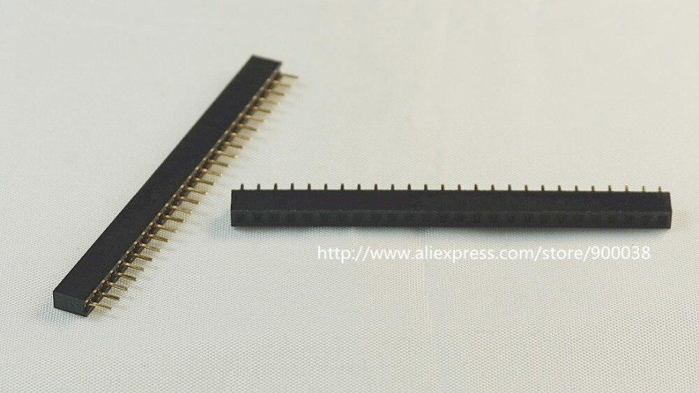 1000 قطعة 1x26 P 26 دبوس 2.0 مللي متر PCB الإناث رأس دبوس رؤوس صف واحد مستقيم من خلال حفرة عازل ارتفاع 4.30 مللي متر بنفايات Reach