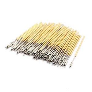 100pcs PL75-M3 1.01mm Dia 38.3mm Length Metal Spring Pressure Test Probe Needle