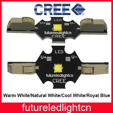 10 Uds Cree XTE sin soldadura 5W LED blanco cálido 2800-3200K blanco neutro 3900-4500K blanco frío 6000-7000 K; azul Klein LED