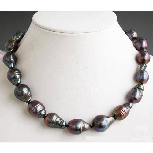 Collier en perles deau douce 15 à 21mm   Bijou en perles de culture de style Baroque, 17 pouces 15 à 21mm, cadeau de bijoux à la mode pour femmes