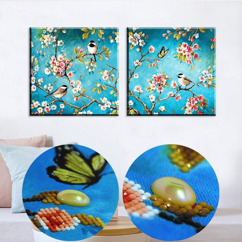 DIY 5D продажа Алмазная вышивка, Алмазная мозаика, специальная форма, Birdstwitter и аромат цветов, алмазная картина крест St