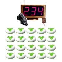 jingle bells waterproof 20 calling buttons1 led display receiver wireless calling system for spasalonhospitalcafe bakery