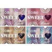 Autocollant de mosaique en diamant 5D  broderie complete ronde  en point de croix  strass   Home sweet home   a faire soi-meme  cadeau RT09