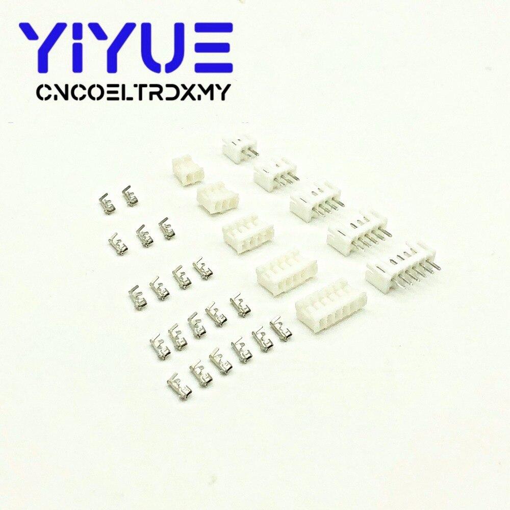 Juego de 20sets de conectores de cable, conectores de conector JST PH2.0 de 2, 3, 4, 5, 6, 7, 8, 9, 10 y 11/12 Pines, de 2,0mm