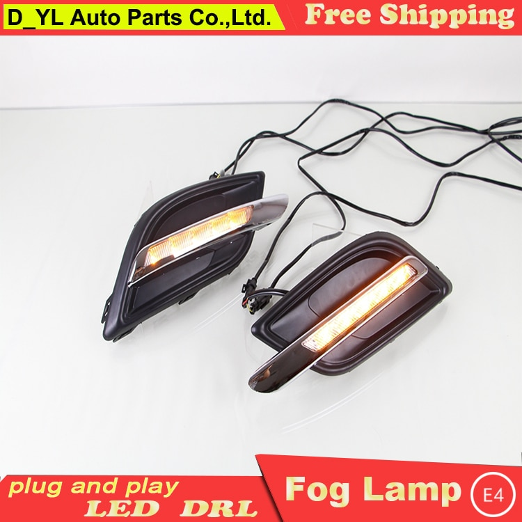 Diseño de coche para vela 3 LED DRL para vela 3 Guía de gran luminosidad LED DRL led luces de circulación diurna de doble color