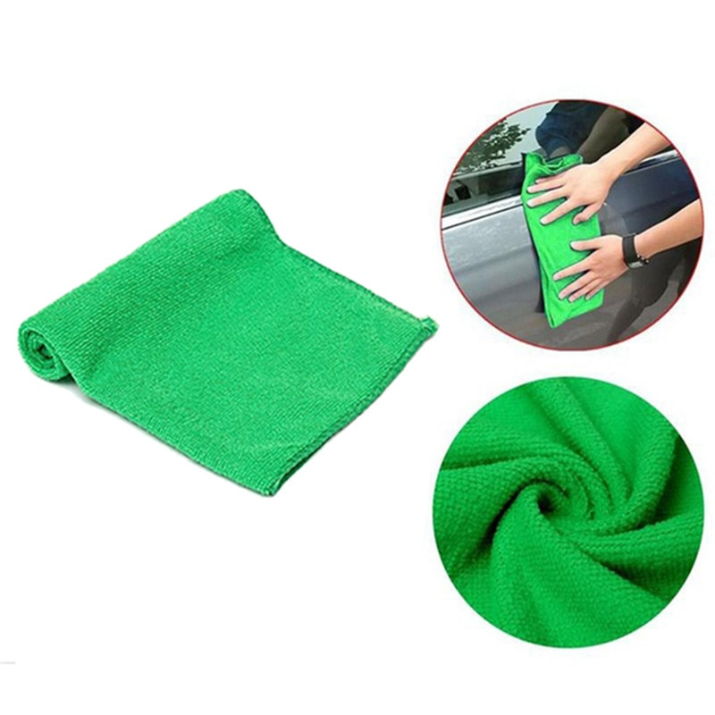 مريحة تنظيف العناية بالسيارة منشفة غسيل سيارات شديدة الليونة لينة بالتفصيل الملابس غسل منشفة منفضة 9.84 * 9.84 بوصة #281358