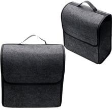 Multi-uso organizador do carro estilo do carro tronco caixa de armazenamento titular macio feltro auto bolsa de armazenamento traseiro assento dobrável volta ferramenta saco