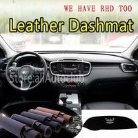 For Kia Sorento Prime 2015 2016 2017 2018 2019 Leather Dashmat Dashboard Cover Dash Carpet Custom Car Styling sunshade LHD+RHD