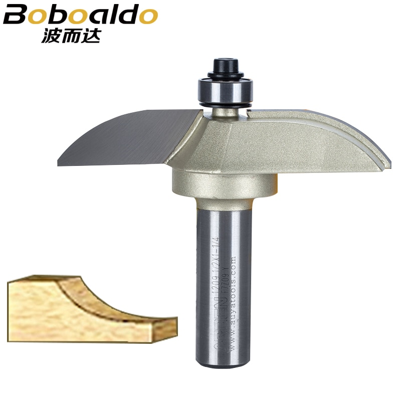 ¡Nuevo! 1 Uds 1/2 cortador de vástago con rodamiento de bolas broca enrutador Arden brocas de Panel elevado-Herramienta de carpintería