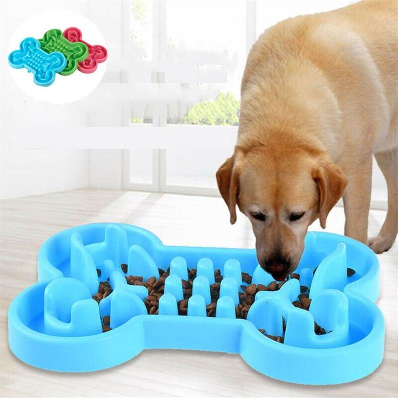 Cuenco de goma suave para mascotas Alimentador de comida lenta, cuenco de...