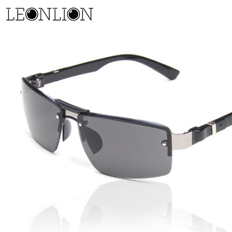 AliExpress - LeonLion 2021 New Metal Sunglasses Man Classic Big Frame Sun Glasses Vintage Brand Designer UV400 Outdoor Driving Glasses