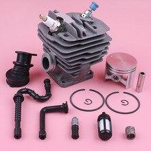 Kit de Piston de cylindre de 48mm pour Stihl MS360 036 034 ligne de filtre à mazout collecteur dadmission soupape de décompression tronçonneuse pièce de rechange