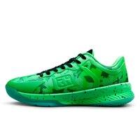 Men Sport Shoes Snakeskin upper men basketball Male Shoes Basket de marque femme bambas Men krasovki GreenMamba