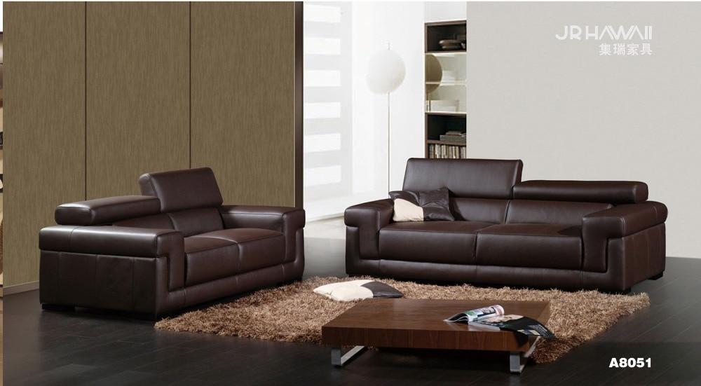 Conjunto de sofá de piel auténtica de vaca, sofá Seccional de sala de estar, sofá de esquina, sofá de hogar, sofá de 2 + 3 plazas, reposacabezas funcional