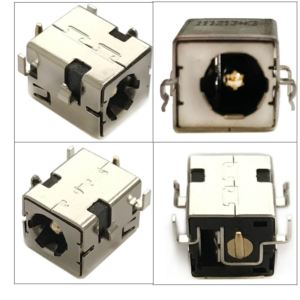 10 шт. DC разъем питания золотой 2,5 мм Pin для Asus K52JR A52 A53 K52 k53 U52 X52 X53 X54 PJ033 A43 X43 A53 A53S U30 DC-042A