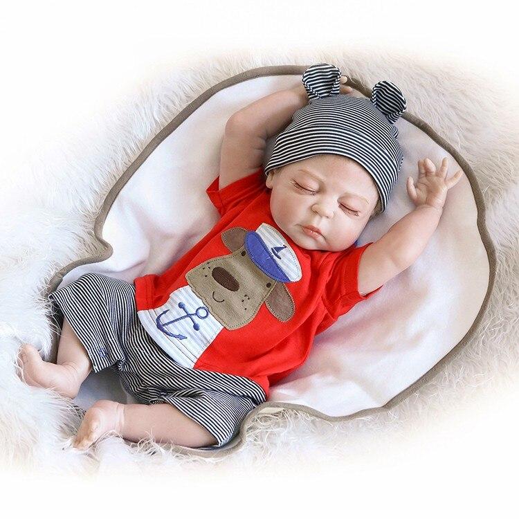 Доставка из России 46 см силиконовая кукла для новорожденных, игрушка для ванны, Реалистичная кукла для новорожденных мальчиков, кукла Bonecas Bebes Reborn Menina