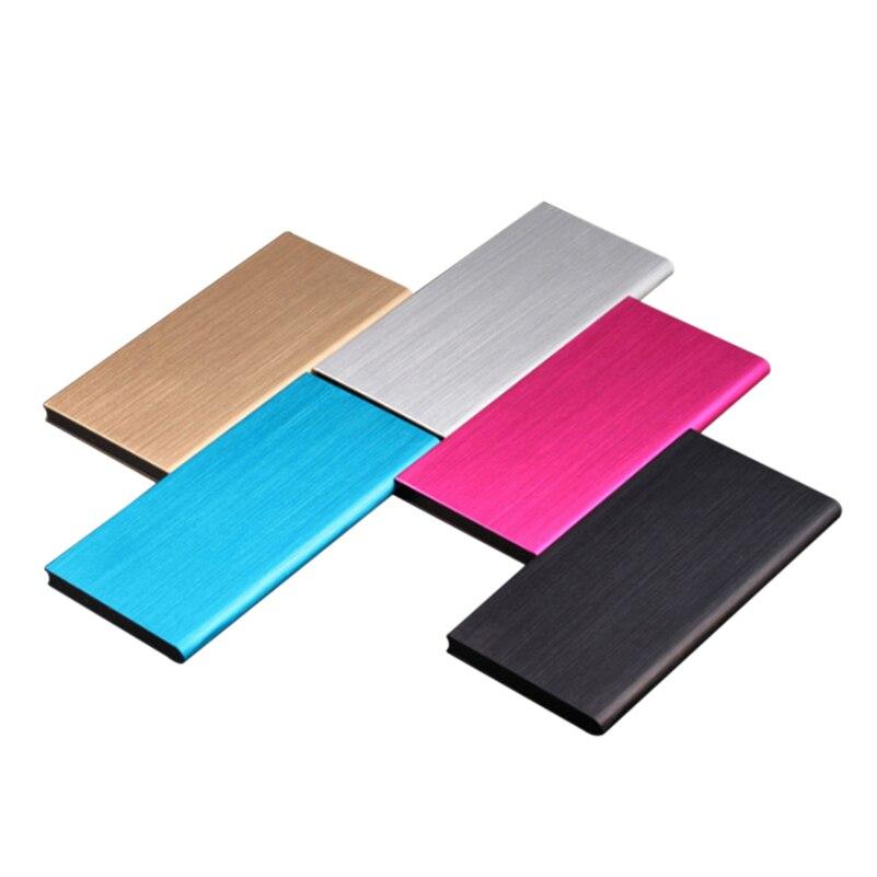Cargador de batería externo portátil, Banco de energía USB Dual de polímero ultrafino de 20000mAh para Xiaomi Mi, tabletas y teléfonos móviles