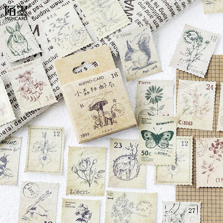 45 uds/1 paquete de pegatinas de papelería Kawaii bosques y mares planificador diario pegatinas decorativas móviles Scrapbooking pegatina para manualidades