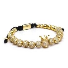 الرجال سوار مجوهرات الأزياء المبيعات تاج سحر مكرميه الخرز أساور pulseira الغمد pulseira للنساء أساور