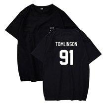 Lucky yfridayf Louis Tomlinson 91 t-shirts mode col rond hommes femmes t-shirts décontracté hauts t-shirt à manches courtes t-shirt