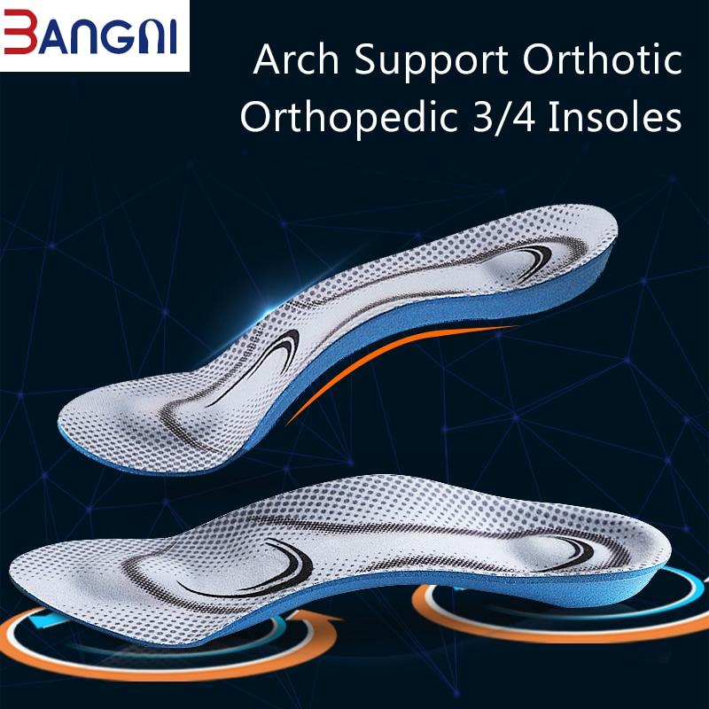 Ортопедические стельки 3 ANGNI, мягкие стельки 3/4 из пены с эффектом памяти для мужчин и женщин