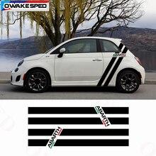 Italië Vlag Kleur Strepen Vinyl Decal Auto Body Sticker Voor Fiat 500 595 Abarth Side Verticale Achter Kwart Strepen