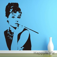 Audrey Hepburn Wall Sticker Andrey Hepburn Wall Decal DIY Decorating Modern Wall Art Easy Wall Stickers S1