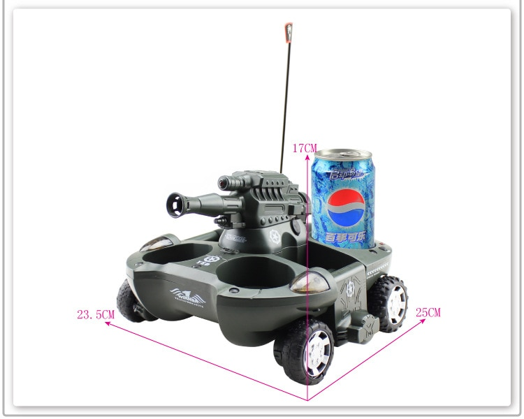 Hot sale 24883 4ch Amphibious shooting rc tank Fighting amphibious vehicles support launching a missile Amphibious rc tank car enlarge