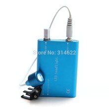 Lâmpada de luz principal led azul portátil para lupa binocular