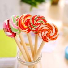 1 Piece Kawaii School Supply Office Stationery Ballpoint Pen Handles Creative Cute Gift Lollipop Sweet Candy Freebie Styling