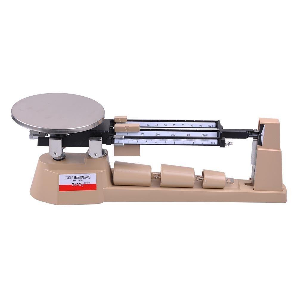 SOLLED Triple Beam Pan balanza mecánica balanza de laboratorio de pesaje analítico