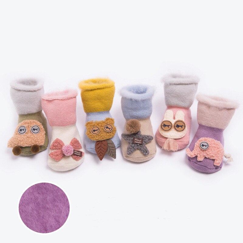 Lawadka Brand Infant Baby Socks Newborn Cotton Cartoon Terry Baby Socks Winter Girls Boys Anti Slip